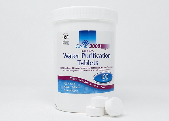 Oasis 3000 water purification tablets